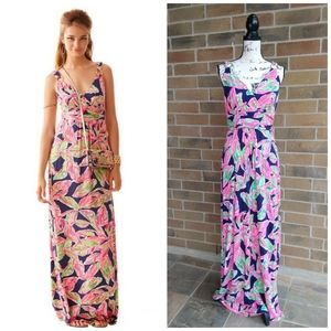 Lilly Pulitzer Villa Maxi Dress the Vias Print